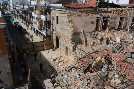 Hotel Francés se desplomó